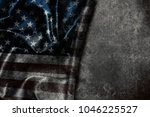 usa flag vintage background | Shutterstock . vector #1046225527