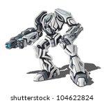Vector Illustration Of Robot O...