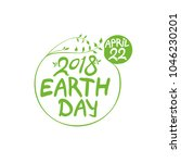 earth day. april 22. 2018.... | Shutterstock .eps vector #1046230201