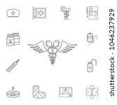 medical snake symbol icon....   Shutterstock .eps vector #1046237929