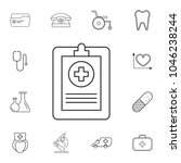medical forms  medical... | Shutterstock .eps vector #1046238244