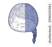 blue shading silhouette of...   Shutterstock .eps vector #1046241061