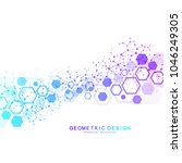 abstract medical background....   Shutterstock .eps vector #1046249305