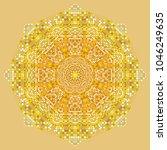 Gold Mandala Pattern With...
