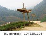sunshade or big umbrella  | Shutterstock . vector #1046251105