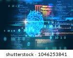 finger print scanning... | Shutterstock . vector #1046253841