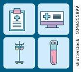 set of medical medicine science ...   Shutterstock .eps vector #1046255899