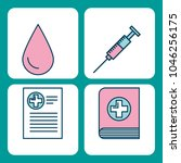 set of medical medicine science ...   Shutterstock .eps vector #1046256175