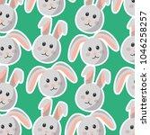 easter bunny cartoon character...   Shutterstock .eps vector #1046258257