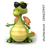 cool dragon   Shutterstock . vector #104625947