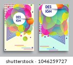 covers templates set with... | Shutterstock .eps vector #1046259727
