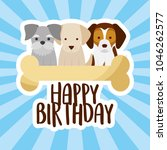happy birthday card | Shutterstock .eps vector #1046262577