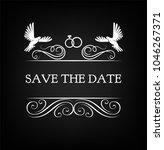 wedding invitation. save the... | Shutterstock .eps vector #1046267371