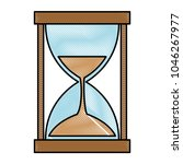 hourglass time isolated icon | Shutterstock .eps vector #1046267977