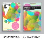 covers templates set with... | Shutterstock .eps vector #1046269024