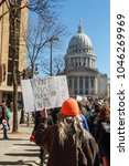 teens marching to the capitol... | Shutterstock . vector #1046269969