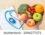 diabetes monitor  cholesterol... | Shutterstock . vector #1046277271