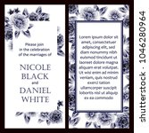 romantic invitation. wedding ... | Shutterstock . vector #1046280964