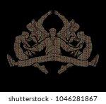 group of people dancing  dancer ... | Shutterstock .eps vector #1046281867