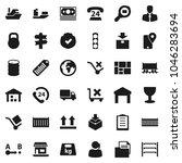 flat vector icon set   signpost ... | Shutterstock .eps vector #1046283694