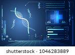 abstract health hud ui... | Shutterstock .eps vector #1046283889