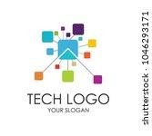 abstract technology logo ... | Shutterstock .eps vector #1046293171