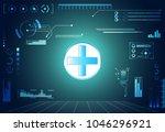 abstract health hud ui... | Shutterstock .eps vector #1046296921