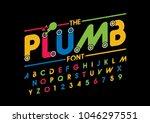 vector of modern abstract font... | Shutterstock .eps vector #1046297551