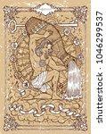 vector fantasy zodiac sign... | Shutterstock .eps vector #1046299537