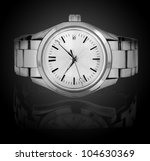 wrist watch isolated on black... | Shutterstock . vector #104630369