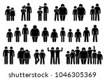 people and man of different... | Shutterstock .eps vector #1046305369