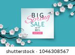 spring sale floral banner with... | Shutterstock .eps vector #1046308567