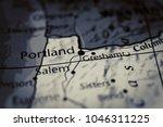 oregon map background | Shutterstock . vector #1046311225