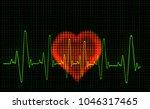 computer artwork of a heart...   Shutterstock . vector #1046317465