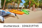 caribbean vacation at a... | Shutterstock . vector #1046319745