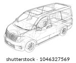 concept car. vector rendering... | Shutterstock .eps vector #1046327569