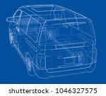 concept car. vector rendering... | Shutterstock .eps vector #1046327575