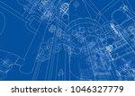 sketch industrial equipment.... | Shutterstock .eps vector #1046327779