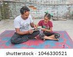 unidentified person in ludhiana ...   Shutterstock . vector #1046330521