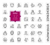 people   minimal thin line web...   Shutterstock .eps vector #1046343814