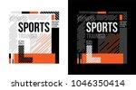t shirt design training sports...   Shutterstock .eps vector #1046350414