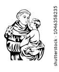saint anthony of padua catholic ... | Shutterstock .eps vector #1046358235