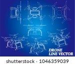 drone isometrics. vector line... | Shutterstock .eps vector #1046359039
