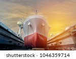 logistics import export... | Shutterstock . vector #1046359714