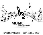 abstract music notes on line... | Shutterstock .eps vector #1046362459