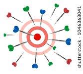 vector. darts game victory joy  ... | Shutterstock .eps vector #1046363041