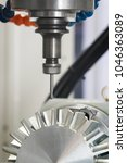 machining precision part by cnc ... | Shutterstock . vector #1046363089