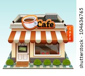 cafe icon | Shutterstock .eps vector #104636765
