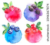 hand drawn watercolor painted... | Shutterstock . vector #1046367874