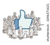 new religion social media... | Shutterstock .eps vector #1046371621